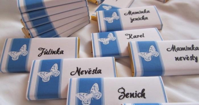 Svatební jmenovky čokoládové