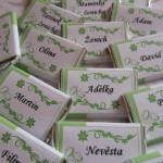 Čokoládové jmenovky- malé