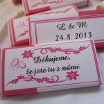 Svatební čokoládové poděkování 1.