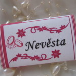 Svatební čokoládové jmenovky- malé 1.