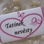 Svatební čokoládové jmenovky- malé 2.