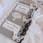 Svatební kniha šedo-černo-bílá