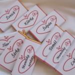 Svatební jmenovky - malé
