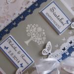 Svatební kniha šedo-bílo-modrá