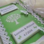 Svatební kniha zeleno-bílá