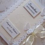 Svatební kniha champagne-bílá