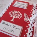 Svatební kniha červeno-bílá-bílý strom