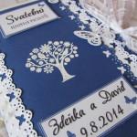 Svatební kniha modro-bílá
