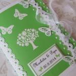 Svatební kniha- strom s motýli