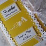 Svatební kniha žluto-bílá s kolem