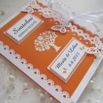 Svatební kniha oranžovo- champagne