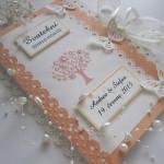 Svatební kniha  meruňka- champagne