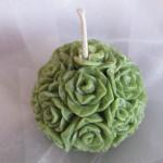 Svatební svíčka- přírodní- růže