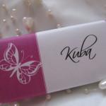 Svatební čokoládové jmenovky- střední 1.