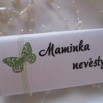 Čokoládové jmenovky- střední- motýl